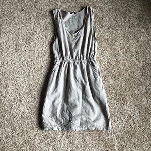 Taupe Sleeveless JCrew Dress